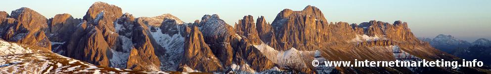 Bagliore alpino del Gruppo del Catinaccio (Foto Volker).