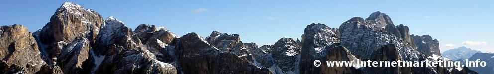 Rosengarten in Südtirol (Foto Volker).