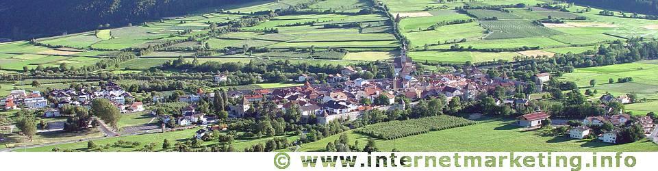 Glurns im Vinschgau in Südtirol.