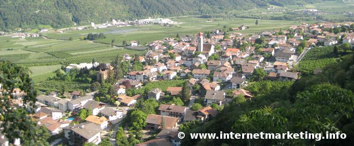 Partschins in Südtirol.