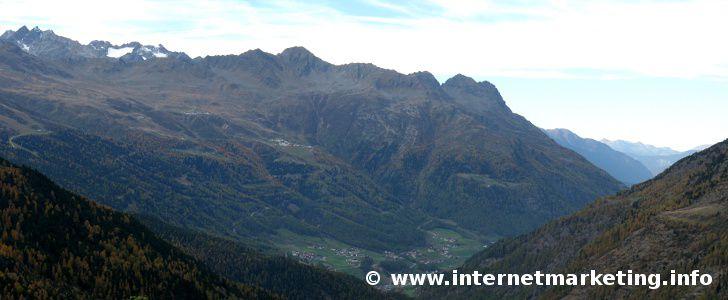 Sölden im Ötztal in Tirol (Österreich)