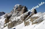 Veduta panoramica dal Passo Principe (2.601 m) nel Gruppo del Catinaccio (Foto: Volker).