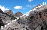 Veduta dal Rifugio Vajolet (2.246) sul Passo Principe (2.601 m) con il Catinaccio d'Antermoia (3.002 m) a destra (Foto: R. Jakubowski)