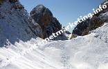 Weg vom Passo Molignon (2.604 m) zum Tierser Alpl (2.440 m) (Foto: Volker).