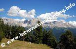 Blick auf die Rosengartengruppe von der Tschafonhütte (1.733 m) aus (Foto: R. Jakubowski).