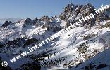 Valle del Vajolet con Rifugio Vajolet e Rifugio Preuss (2.243 m) nel Gruppo del Catinaccio (Foto: Volker)