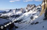 Aufstieg von der Vajoletthütte (2.243 m) zum Grasleitenpass (2.601 m) (Foto: Volker).