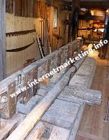 La sega con telaio di tipo veneziano nell'antica segheria Steger (Foto: Volker).