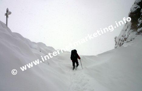 Arrampicata al Passo delle Cigolade (Foto: Volker).