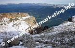 Blick vom Schlern ins Eisacktal in Südtirol (Foto: Volker).