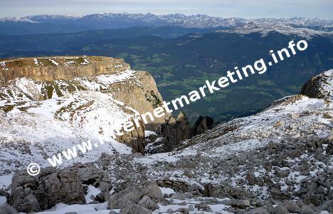 Vista della Valle d'Isarco dallo Sciliar in Alto Adige (Foto: Volker)