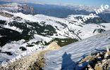 Massiccio dello Sciliar, Alpe di Siusi e Monte Bullaccia (Foto: Volker).
