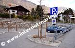 Parkplatz für Wanderer in Tschars (Foto: R. Jakubowski).