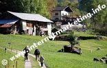 Das Gasthaus Longfallhof (1.075m) am Meraner Höhenweg (Foto: R. Jakubowski).
