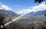 Meraner Becken mit Meran, Küchelberg und Dorf Tirol (Foto: R. Jakubowski).