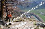 Aufstieg zur Jausenstation Sonnenhof am Ende des Stabener Waalweges (Foto: B. Jakubowski).