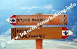 Wegweiser für den Stabener Waalweg (Foto: R. Jakubowski).